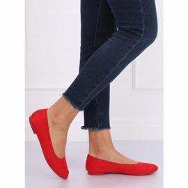 Miękkie baleriny damskie czerwone NK17P Red 1