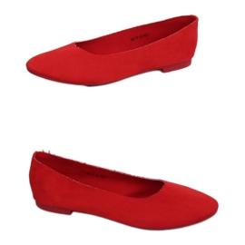 Miękkie baleriny damskie czerwone NK17P Red 4