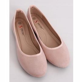 Baleriny gładkie różowe CD63P Pink 1