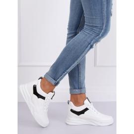 Buty sportowe na koturnie białe 85-429 WHITE/BLACK 1