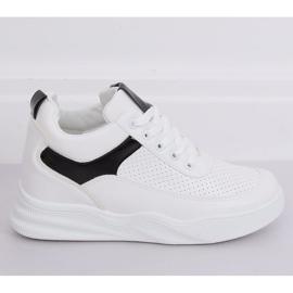 Buty sportowe na koturnie białe 85-429 WHITE/BLACK 3
