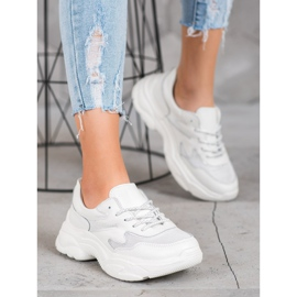 Filippo Skórzane Białe Sneakersy 1
