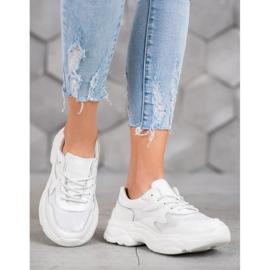 Filippo Skórzane Białe Sneakersy 5