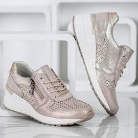 Filippo Złote Sneakersy Z Brokatem złoty 1