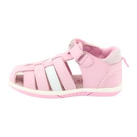 Sandałki dziewczęce American Club DR16/20 białe różowe 2