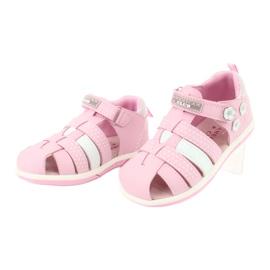 Sandałki dziewczęce American Club DR16/20 białe różowe 3