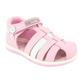 Sandałki dziewczęce American Club DR16/20 białe różowe 1