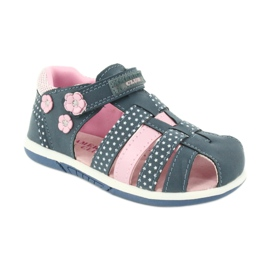 Sandałki dziewczęce American Club DR16/20 białe granatowe różowe 1