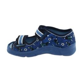 Befado obuwie dziecięce  969X141 granatowe niebieskie 2