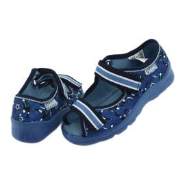 Befado obuwie dziecięce  969X141 granatowe niebieskie 4
