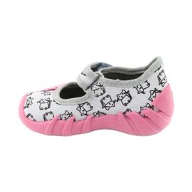 Befado obuwie dziecięce 109P198 czarne różowe szare 2