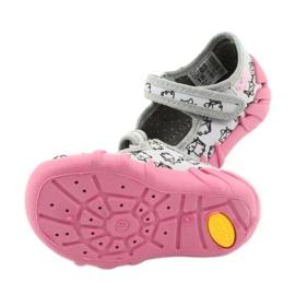 Befado obuwie dziecięce 109P198 czarne różowe szare 5