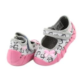 Befado obuwie dziecięce 109P198 czarne różowe szare 4