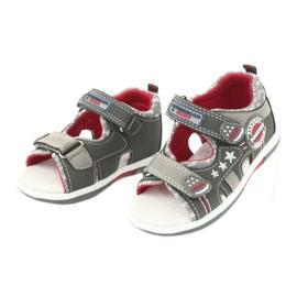 Sandałki chłopięce American Club DR15/20 białe czerwone szare 2