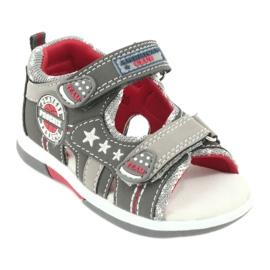 Sandałki chłopięce American Club DR15/20 białe czerwone szare 1