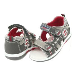 Sandałki chłopięce American Club DR15/20 białe czerwone szare 3