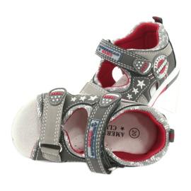 Sandałki chłopięce American Club DR15/20 białe czerwone szare 4