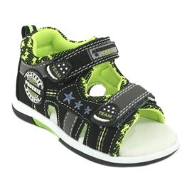 Sandałki chłopięce American Club DR15/20 czarne szare zielone 1