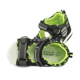 Sandałki chłopięce American Club DR15/20 czarne szare zielone 5