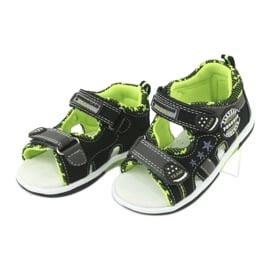 Sandałki chłopięce American Club DR15/20 czarne szare zielone 3