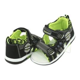 Sandałki chłopięce American Club DR15/20 czarne szare zielone 4