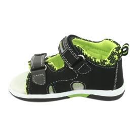 Sandałki chłopięce American Club DR15/20 czarne szare zielone 2