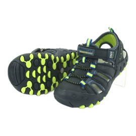 Sandałki chłopięce American Club DR04/20 granatowe zielone 3