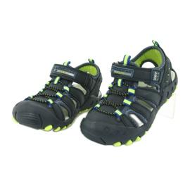 Sandałki chłopięce American Club DR04/20 granatowe zielone 2