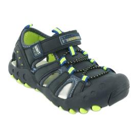 Sandałki chłopięce American Club DR04/20 granatowe zielone 1