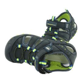 Sandałki chłopięce American Club DR04/20 granatowe zielone 4