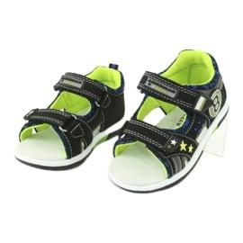 Sandałki osiem American Club DR14/20 czarne niebieskie szare zielone 2