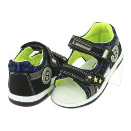 Sandałki osiem American Club DR14/20 czarne niebieskie szare zielone 3