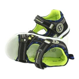 Sandałki osiem American Club DR14/20 czarne niebieskie szare zielone 5