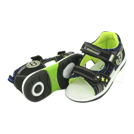 Sandałki osiem American Club DR14/20 czarne niebieskie szare zielone 4