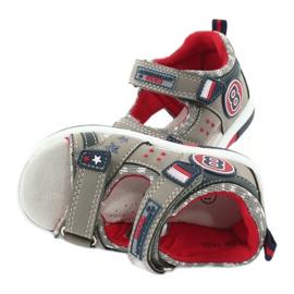 Sandałki osiem American Club DR14/20 czerwone granatowe szare 4