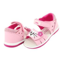Sandałki dziewczęce kotek American Club DR22/20 różowe 2