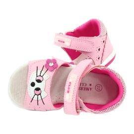 Sandałki dziewczęce kotek American Club DR22/20 różowe 4