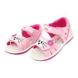 Sandałki dziewczęce kotek American Club DR22/20 różowe 1