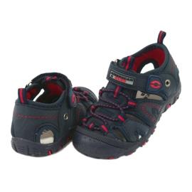 Sandałki chłopięce rzep American Club DR08/20 czerwone granatowe 2