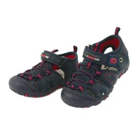 Sandałki chłopięce rzep American Club DR08/20 czerwone granatowe 1