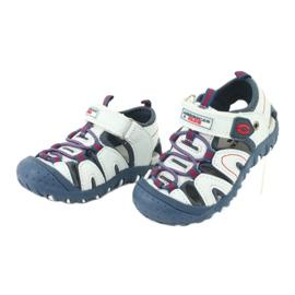Sandałki chłopięce rzep American Club DR08/20 białe czerwone niebieskie 1