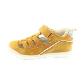 Sandałki chłopięce rzep American Club GC12/20 żółte 2