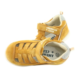 Sandałki chłopięce rzep American Club GC12/20 żółte 5