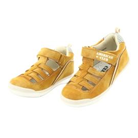 Sandałki chłopięce rzep American Club GC12/20 wielokolorowe żółte 3