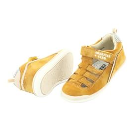 Sandałki chłopięce rzep American Club GC12/20 żółte 4