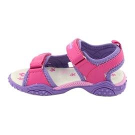 Sandałki dziewczęce łączka American Club HL17/19 fioletowe różowe 1