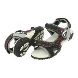Sandałki chłopięce sportowe American Club RL19/19 czarne czerwone 3