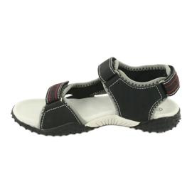 Sandałki chłopięce sportowe American Club RL19/19 czarne czerwone 1
