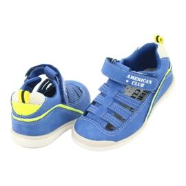 Sandałki chłopięce rzep American Club GC12/20 wielokolorowe niebieskie 3
