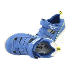 Sandałki chłopięce rzep American Club GC12/20 wielokolorowe niebieskie 5